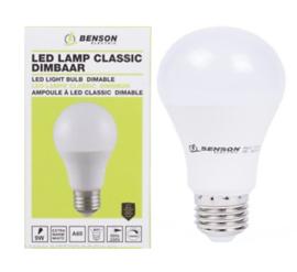 Led lamp classic A60 9W E27 dimbaar