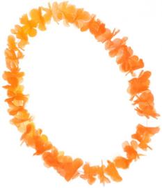 Oranje Ketting Hawaii 58 cm polyester