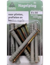 Nagelplug 8x80 mm