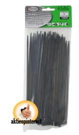 Tie Ribs 3.6 X 200mm Zwart (100 stuks)