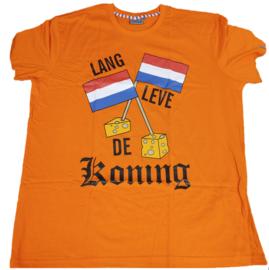 Shirt Oranje - vlag  2x rood - wit - blauw