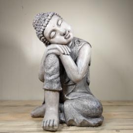 Boeddha Beeld zittend  Hand op Knie 46 cm