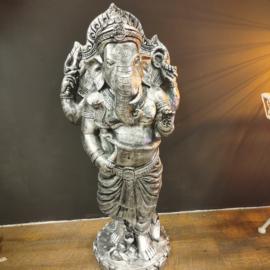Ganesha beeld - Zilver - 97cm