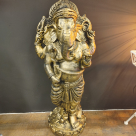Ganesha beeld - Goud - 97cm