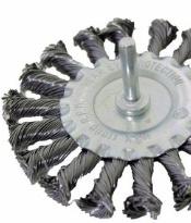 Staalborstel schijf -  getordeerd - boormachine 100mm