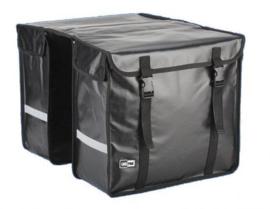 Lastpak Bisonyl Dubbele Fietstas - 46 liter – Mat Zwart