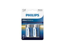 Phillips ultra alkaline - LR14 C  batterij - 2 stuks