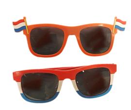 Oranje Zonnebril Rood Wit Blauw