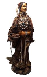 Vrouwelijke Indiaan staand 98 cm