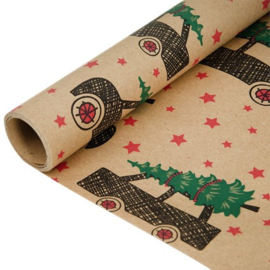 Kerstpapier Luxe 10 Mtr Mix