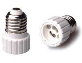 Fitting Adapter voor Lamphouders E27 => GU10 Wit