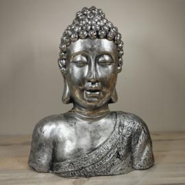 Boeddha Borstbeeld Zilver 44cm