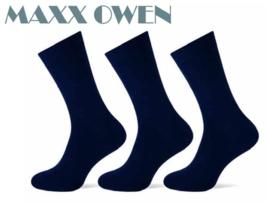 Heren Sokken Donker Blauw Naadloos- 3 paar -  Maxx Owen