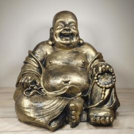 Chinese boeddha zittend goud 44 CM Hoog