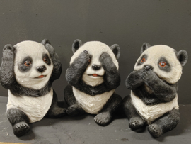 Horen zien en zwijgen Pandaberen beeldjes