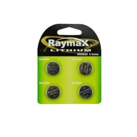 Raymax knoopcel batterij -  CR2025 -  4 stuks