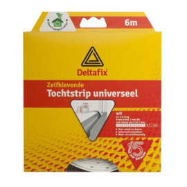 Deltafix Tochtstrip Universeel Wit | 6m x 9mm x 7mm