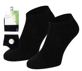 Boru Bamboo Short Sneaker Sok 40 - 46 | 2-Pack | Zwart