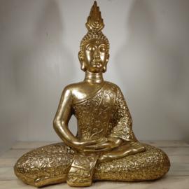 Boeddha Beeld zittend  punt Goud 70 cm