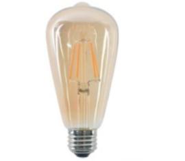 led lamp retro filament st64 4w e27 amber dimbaar