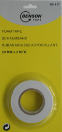 Dubbelzijdige Foam tape 20mm 2mtr