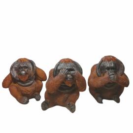 Horen zien en zwijgen Orang Oetan beeldjes Groot