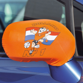 Oranje autospiegel hoesje