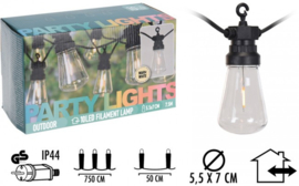 Feestverlichting 10 lampen - warm wit