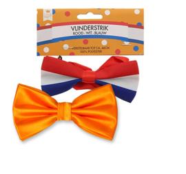 Oranje / Rood wit blauw / vlinderstrik