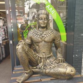 Tempelwachter beeld goud 127cm