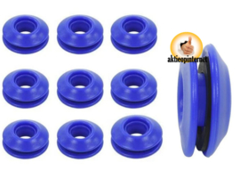 Zeilogen - Zeilringen - Kunststof - Blauw - 10 Stuks