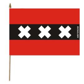 Vlag op stok stof Amsterdam