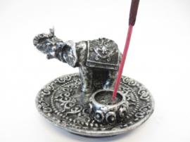 Wierookhouder zilveren olifant