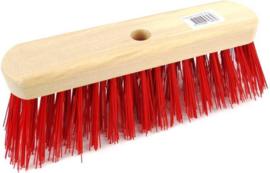 Straatbezem rood 29 cm