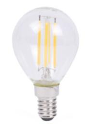 Led lamp bol filament G45 4W E14 dimbaar