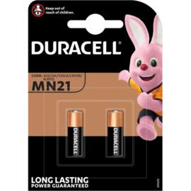 Duracell DUMN21-2 MN21 V23GA batterijen (2-pack, 12 volt, 50 mAh)