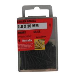 Stalen nagels - 2.0 x 30 MM zwart