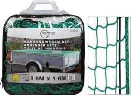 Aanhangwagennet afdeknet 3,0 x 1,6 mtr. in tas