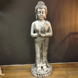 Boeddha Beeld staand  zilver 97cm