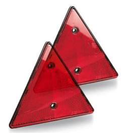 Reflector Driehoek 15.5 Cm Rood 2 Dlg E-Keur