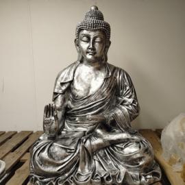 Zilver boeddha beeld 117cm