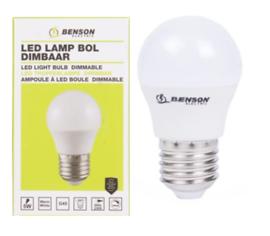 Led lamp bol G45 5W E27 dimbaar