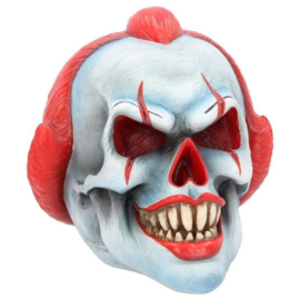 Schedel horror clown hoofd ornament