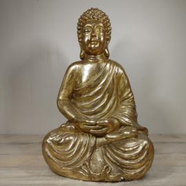 Boeddha Beeld zittend Goud 44 cm