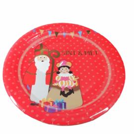 Borden Sinterklaas ( Rood) 18 cm 8 stuks