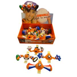 Dwarll met plakstrip - Ek voetbal - Oranje