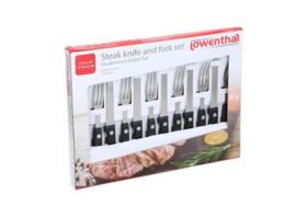Steakmessen en vorkenset - BBQ set -12 delig
