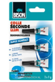 Secondelijm Bidon Super Compact 3 x 0,8 g