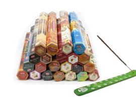 Wierook Hem 22 pakjes x 20stokje = 440 stokjes van verschillende geur wierook + wierookhouder