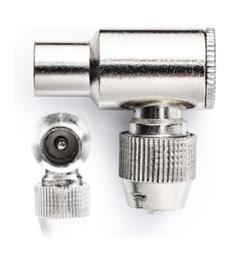 Coax plug man metaal
